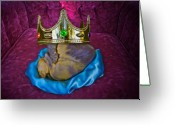Adam Gabriel Winnie Greeting Cards - Royal King Greeting Card by Adam Winnie