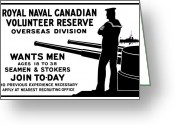 Great Mixed Media Greeting Cards - Royal Naval Canadian Volunteer Reserve Greeting Card by War Is Hell Store