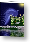Smudgeart Greeting Cards - Royal Peacock Greeting Card by Madeline M Allen