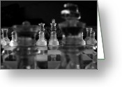 Chess Game Greeting Cards - Royal Perspective  Greeting Card by David Paul Murray
