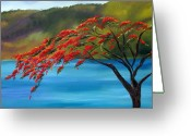 Cards Gallery Greeting Cards - Royal Poinciana Resort H Greeting Card by Maria Soto Robbins