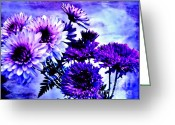 Purples Digital Art Greeting Cards - Royal Purple Pretties Greeting Card by Marsha Heiken