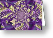 Book Cover Greeting Cards - Royal Purple  Greeting Card by Rose  Hill