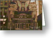 1939 Movies Greeting Cards - Royal Theater Cincinnati Greeting Card by Padre Art