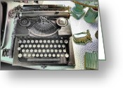 Typewriters Greeting Cards - Royally Yours Greeting Card by Jan Amiss Photography