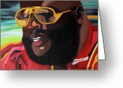 Hip-hop Greeting Cards - Rozay Greeting Card by Chelsea VanHook