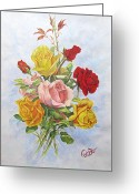 Roze Greeting Cards - Roze1 Greeting Card by Samira Abbaszadeh charandabi