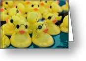 Fairgrounds Greeting Cards - Rubber Ducks Greeting Card by Kim Fearheiley