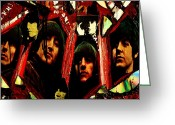 Image John Lennon Greeting Cards - Rubber Soul Beatles Greeting Card by Michael Kulick