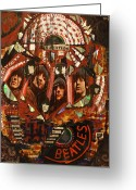 Image John Lennon Greeting Cards - Rubber Soul Greeting Card by Michael Kulick