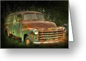 Old Chevrolet Truck Greeting Cards - Rubens Good Chicks 3 Greeting Card by Thomas Young