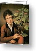 Young Man Greeting Cards - Rubens Peale with a Geranium Greeting Card by Rembrandt Peale