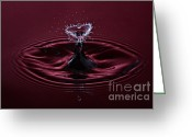 Splashes Greeting Cards - Rubies and Diamonds Greeting Card by Susan Candelario