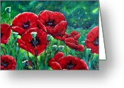 Flowers Direct Greeting Cards - Rubies in the Emerald Forest Greeting Card by Richard T Pranke