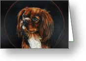 Lapdog Greeting Cards - Ruby Greeting Card by Monique Geurts