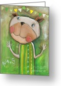 Baby Room Greeting Cards - Ruby Greeting Card by Sonja Mengkowski