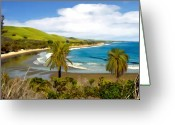 Santa Barbara Digital Art Greeting Cards - Rufugio Greeting Card by Kurt Van Wagner