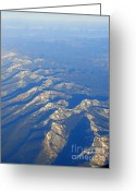 Forbidding Greeting Cards - Rugged Rockies Aerial II Greeting Card by Al Bourassa