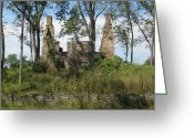 Carversville Greeting Cards - Ruin Greeting Card by Pat Colucci