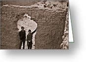 Verlyn D. Gleisberg Photo Greeting Cards - Ruins Gate Greeting Card by Dean Gleisberg
