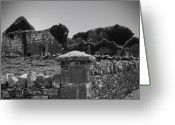 County Clare Greeting Cards - Ruins in the Burren County Clare Ireland Greeting Card by Teresa Mucha