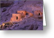 Grand Gulch Greeting Cards - Ruins Of Ancient Pueblo Indian Or Greeting Card by Ira Block