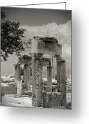Byzantine Greeting Cards - Ruins of Hierapolis Greeting Card by Waldek Dabrowski