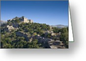 Battlement Greeting Cards - Ruins of Nimrod Fortress Greeting Card by Noam Armonn