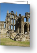 Count Dracula Greeting Cards - Ruins of Whitby Abbey Greeting Card by Susan Baker