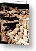 Excavation Greeting Cards - Ruins of Zippori Greeting Card by Thomas R Fletcher