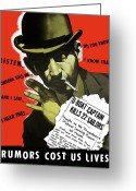 Lips  Greeting Cards - Rumors Cost Us Lives Greeting Card by War Is Hell Store