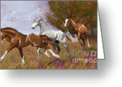 Freedom Painting Greeting Cards - Run away Greeting Card by Kate Black