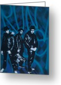 Spraypaint Greeting Cards - Run Dmc Greeting Card by Iosua Tai Taeoalii