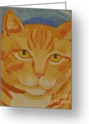 Color Image Painting Greeting Cards - Runner # 3 Greeting Card by Cilla Mays