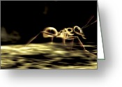 Nature Body Greeting Cards - Running Ant, Computer Artwork Greeting Card by Ian Cuming
