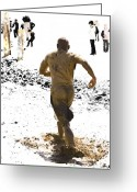 Jogging Greeting Cards - Running Away From Reality Greeting Card by Mark Hendrickson
