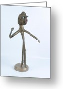 Standing Sculpture Greeting Cards - Runway Greeting Card by Michael Jude Russo
