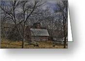 Old Country Roads Greeting Cards - Rural Farm Greeting Card by Joenne Hartley