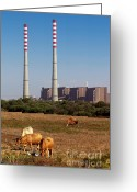 Pollute Greeting Cards - Rural Power Greeting Card by Carlos Caetano