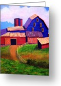 Old Barn Greeting Cards - Rural Reverie Greeting Card by Hugh Harris