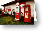 Treasures Greeting Cards - Rural Roadside Antiques Greeting Card by Toni Hopper