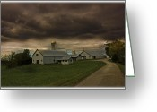 Storm Prints Greeting Cards - Rural Storm Brewing Greeting Card by Barry Jones
