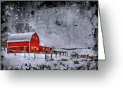 Farm Digital Art Greeting Cards - Rural Textures Greeting Card by Evelina Kremsdorf