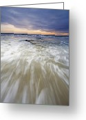 Ebb Greeting Cards - Rush Greeting Card by Mike  Dawson