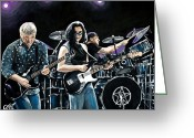 Concert Painting Greeting Cards - Rush Greeting Card by Tom Carlton