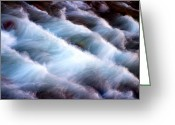Zion National Park Greeting Cards - Rushing Greeting Card by Adam Romanowicz
