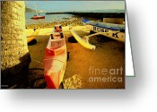 Beach Scenery Greeting Cards - Russ K Greeting Card by Cheryl Young
