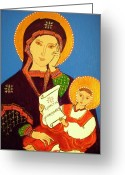 Christ Child Greeting Cards - Russian Icon Greeting Card by Stephanie Moore