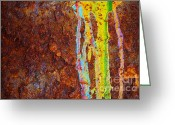 Concrete Greeting Cards - Rust Background Greeting Card by Carlos Caetano