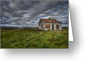 Old Abandoned House Greeting Cards - Rust In Peace Greeting Card by Evelina Kremsdorf